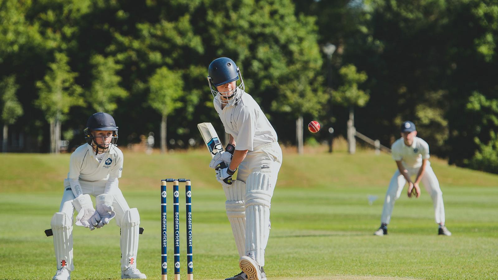Dunhurst pupils playing cricket