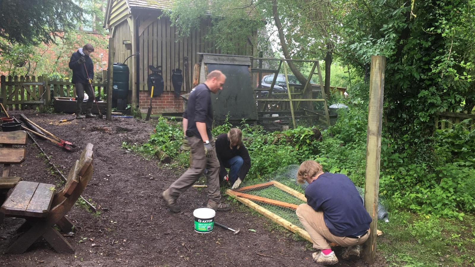 Working party at Steep Primary