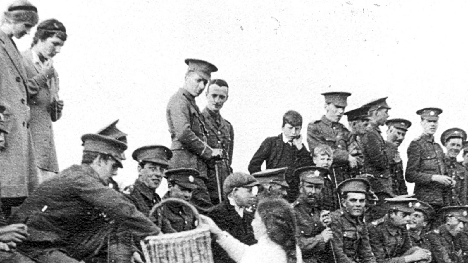 WW1 Soldiers on Cricket Pitch